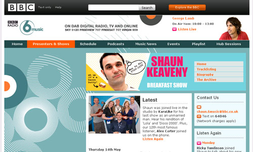 BBC 6 Music with Sean Keaveny