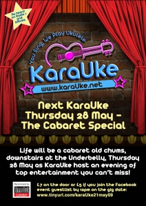 May Cabaret flyer