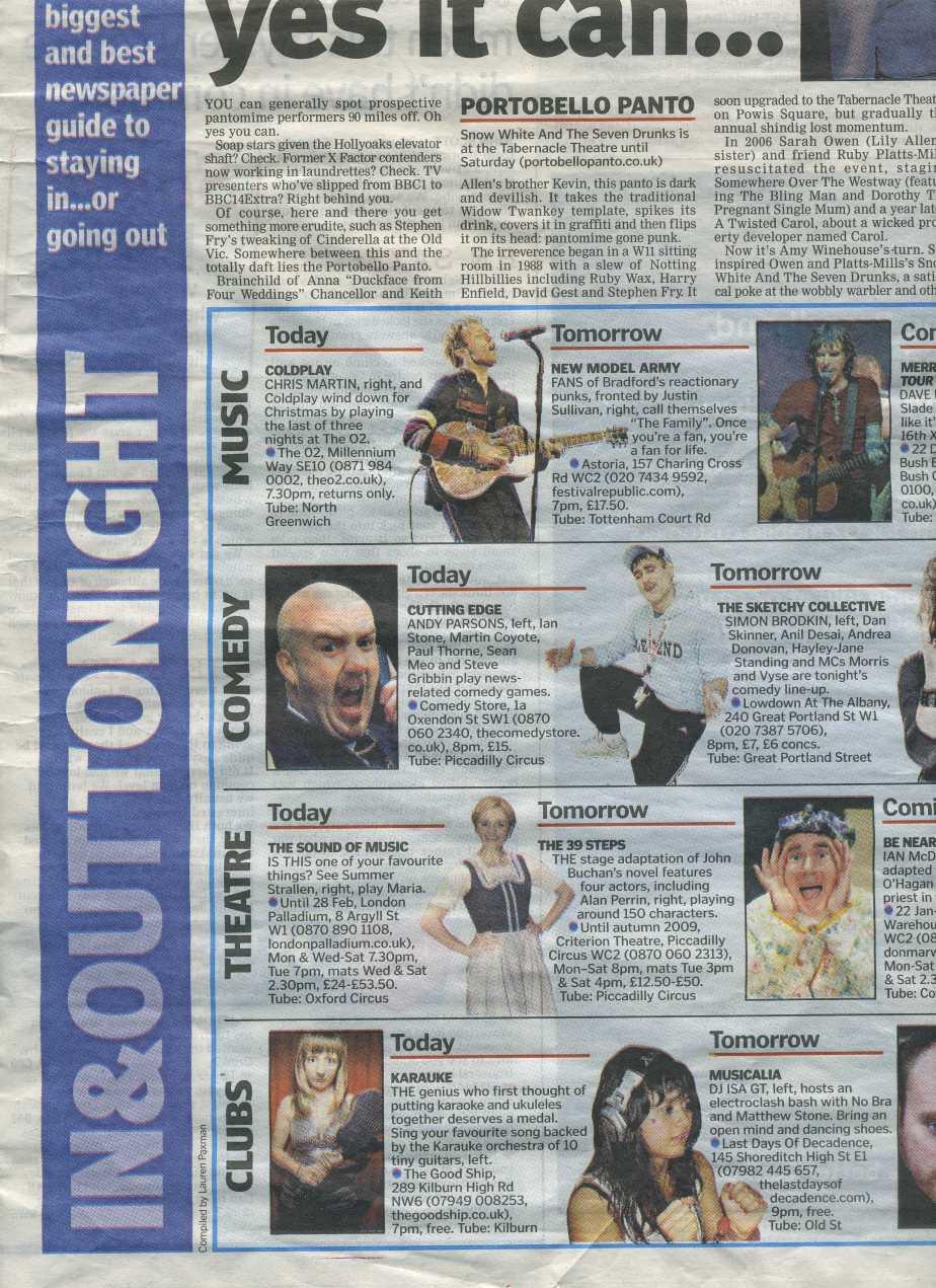 London Lite Newspaper, 16 December 2008