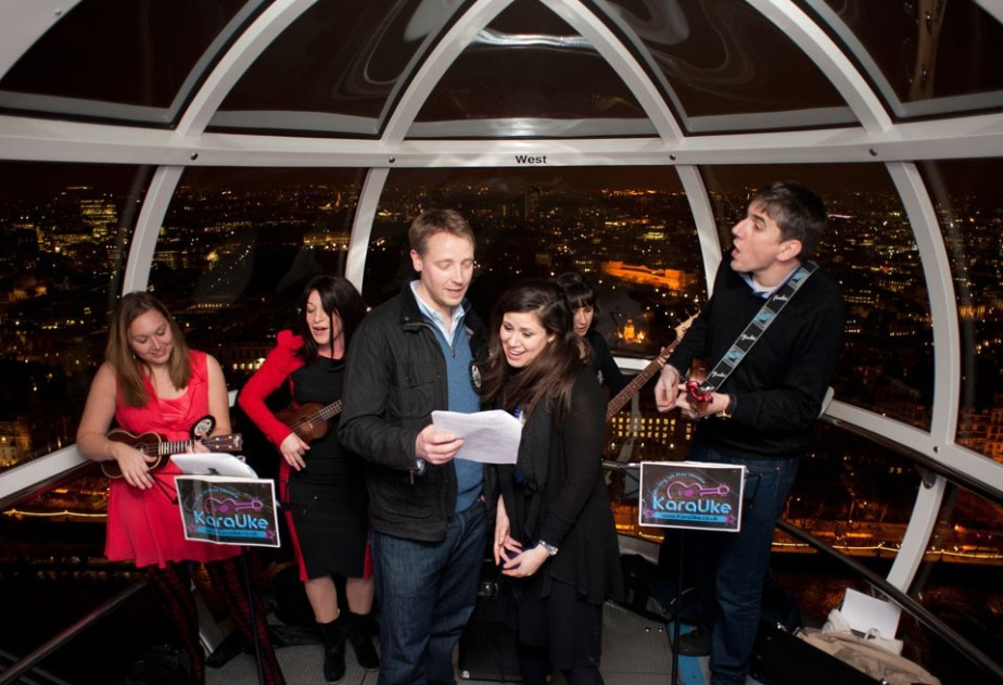 Karaoke in the London Eye